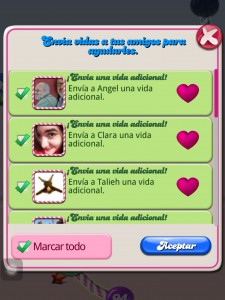 Candy Crush. Las amistades ayudan